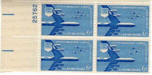 Used, Plate Block #25762 of Four 6 Cent Blue B-52 Stratofortress for sale  Delivered anywhere in USA
