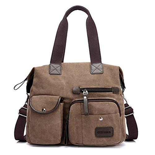 Women's Canvas Tote Bag Top Handle Bags Shoulder Handbag Tote Shopper Handbag crossbody bags ()