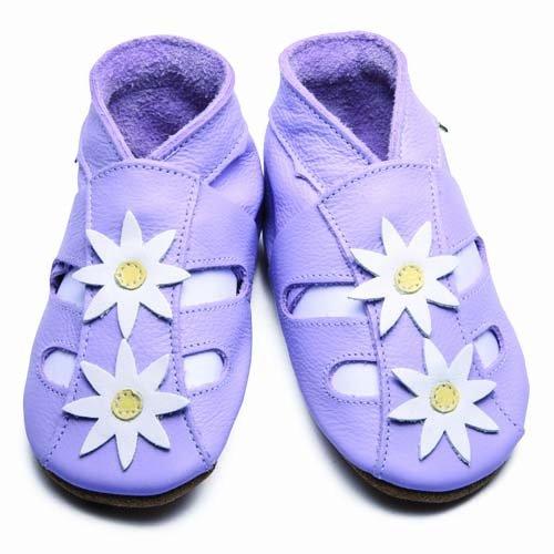 Inch Blue - 1655 S - Chaussures Bébé Souples - Fleur - Sandales - Lilas - T 17-18 cm