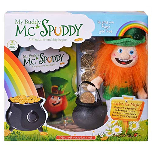 . Patricks Story Book - Saint Patrick Day Presents for Kids - Irish Leprechaun Toy with Gold Coins          ()
