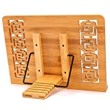 MEGREZ Bamboo Foldable Book Stand