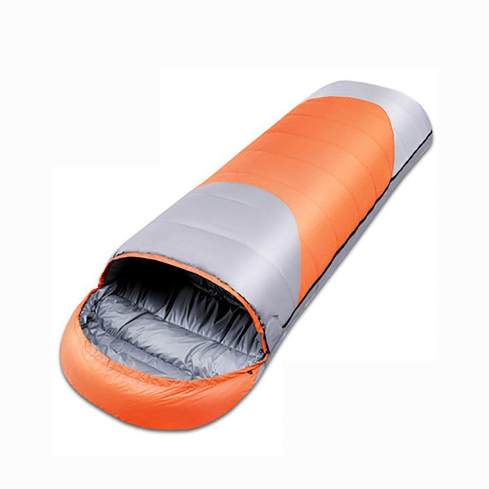 MIAO Sleeping Bag - Outdoor Autumn and Winter Camping Adult Envelope Down?1800g? Sleeping Bags , orange