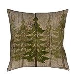 Best Thumbprintz Pillows - Thumbprintz Pines Decorative Throw Pillow Brown/Green 20 x Review