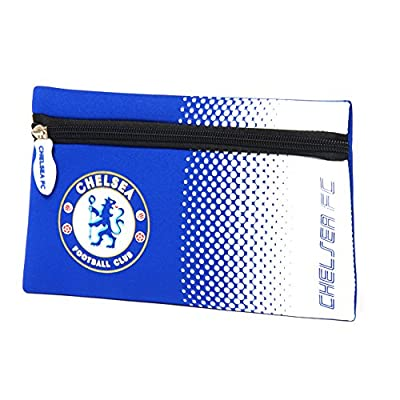 Chelsea FC Official Fade Flat Football/Soccer Crest Pencil Case