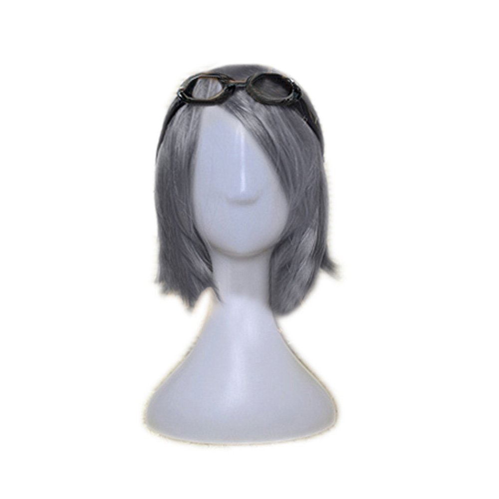 Quicksilver Wig Pre-tyled Cosplay Short Silver Wig Hair Accessories