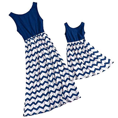 pour Femmes De Wave Les Femmes Haute Manteau Maman LULIKA Bleu Me LGante amp; Taille Ray Slim Vintage Robe Jupe Famille Robe Lasticit Droite VTements Imprim EqHx6dwf
