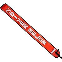 scuba choice Scuba buceo tubo de señal de 4'Marcador de superficie con clip de plástico, Naranja