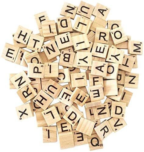 Making Alphabet Coasters and Scrabble Crossword Game Wood Letter Tiles//Wooden Scrabble Tiles A-Z Capital Letters for Crafts 800PCS Scrabble Letters for Crafts DIY Wood Gift Decoration Pendants