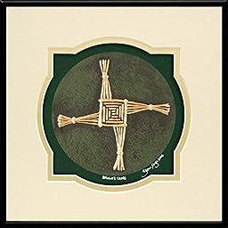 Brigid\'s Cross - Cast Paper - Celtic Blessing - Irish art - St. Brigid - Irish Blessing - Brigit - Brighid - Tuatha Dé Danann