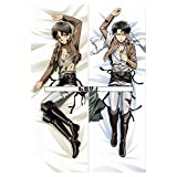 Pillow Cover Pillow Cover Attack on Titan Ellen Yeager? [Super luxury 2way tricot] 150cmx50cm (japan import)