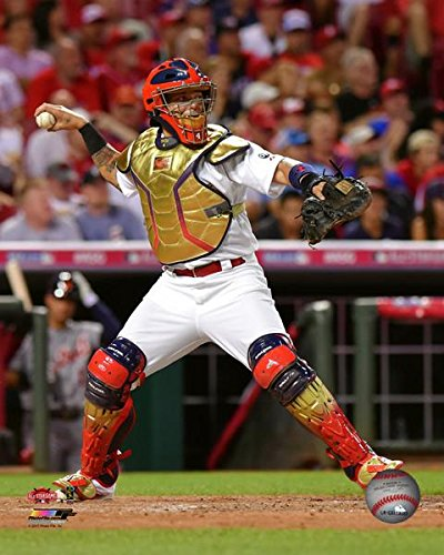 """Yadier Molina St. Louis Cardinals 2015 All Star Game Action Photo (8"""" x 10"""")"""
