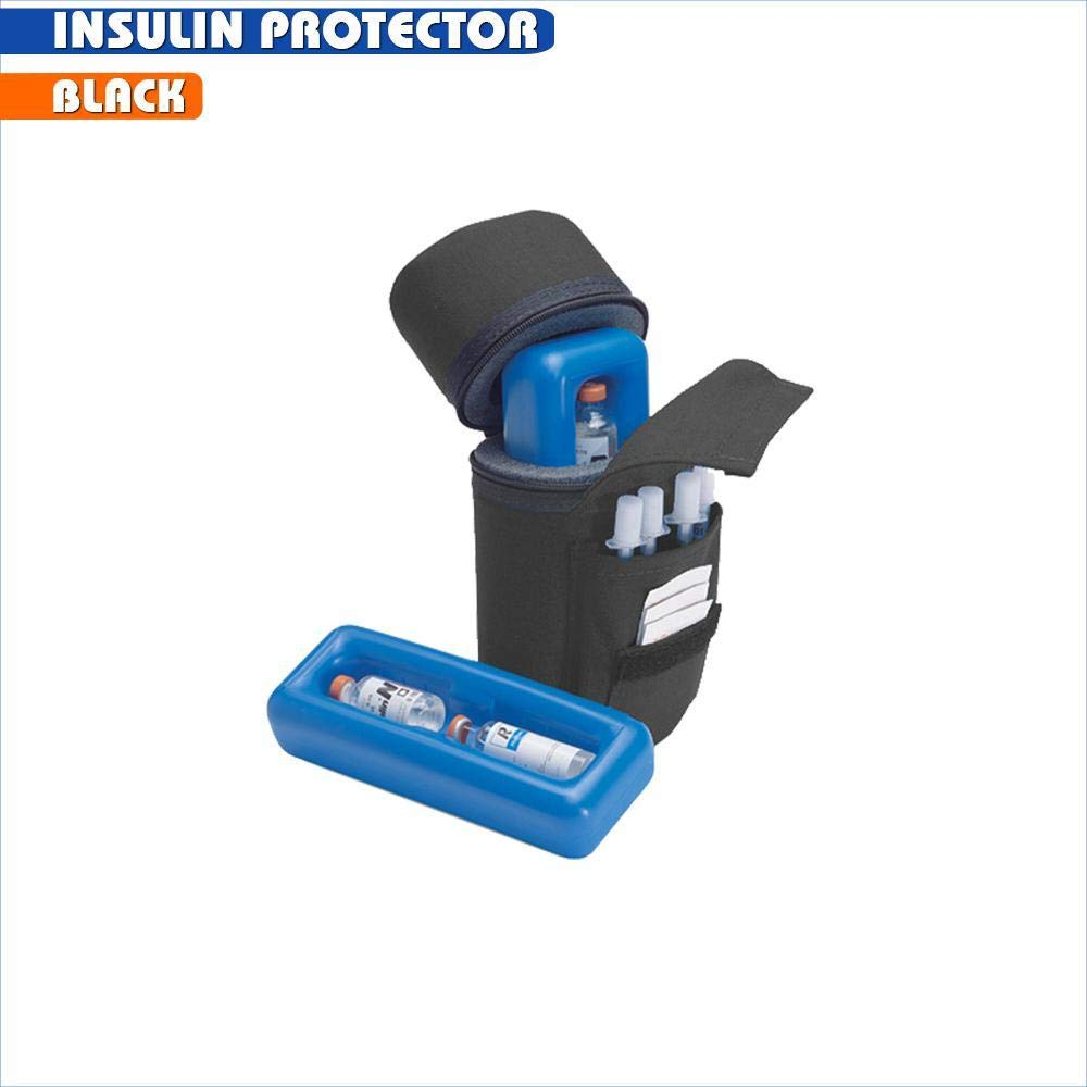 Insulin Protector Case Insulin Cooler - Black by Medicool