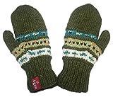 1401 MT Unisex Crochet Wool Agan Traders Knit Wool Mitten (Mitten - Green)