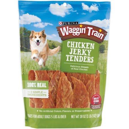 Purina Waggin' Train Chicken Jerky Tenders Dog Treats (18 0z. - 2 Pack)