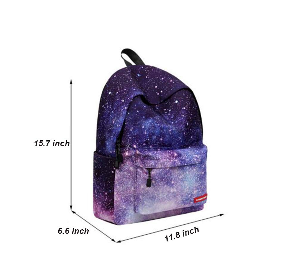 KIMSAI SAI Mochila De Lona para Mujer con Estilo Galaxy Star Universo Mochila Espacial Mochila Escolar para Escuela Mochila para Port/átil Mochila