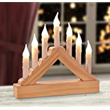 7 Lights Wooden Pre-Lit Candle Bridge Arch Window Christmas Tree Decoration Xmas Light