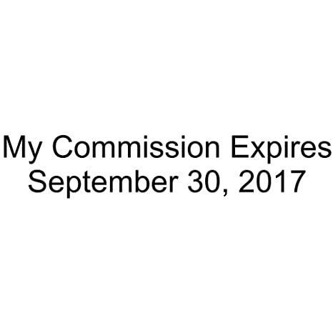 My Commission Expires Notary Date Stamp