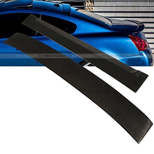 Carbon 2dr - 08-13 Infiniti G37 2DR Coupe Carbon Fiber Rear Roof Spoiler Wing
