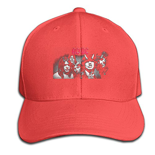 Mens Or Youth Hats AC DC Highway To Hell Red Cricket Match Cap