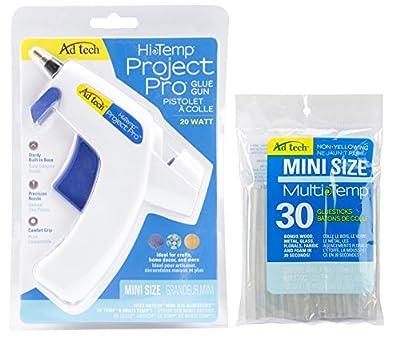 Ad Tech Hi Temp Project Pro Mini Glue Gun Pack & Additional 30 Pack Mini Multi-Temp Glue Sticks Bundle