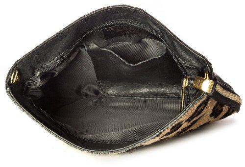 Big Handbag Shop - Cartera de mano con asa de piel para mujer One Naranja