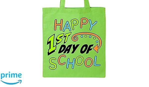 Amazon.com: Inktastic - Happy 1st Day of School Tote Bag ...