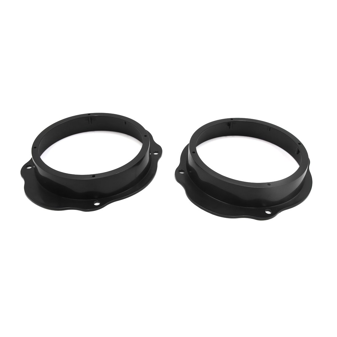 uxcell 2pcs Black 6.5'' Car Stereo Audio Speaker Mounting Spacer Adaptor Rings for Ford