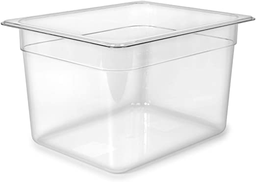 EVERIE Sous Vide Container 7 Quart with Silicone Lid and Sleeve for Anova
