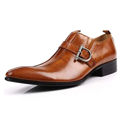 2e663bd8e3a3 Amazon.com: YaXuan Men's Business Shoes,Spring Fall Pointed Shoes ...