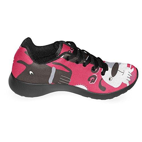 InterestPrint Womens Jogging Running Sneaker Lightweight Go Easy Walking Casual Comfort Sports Running Shoes Cute Dog Multi 1 7Md53f0s