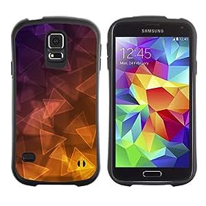 Suave TPU GEL Carcasa Funda Silicona Blando Estuche Caso de protección (para) Samsung Galaxy S5 / CECELL Phone case / / Triangle Purple Yellow Gold /