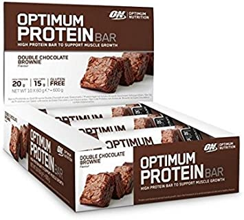 Optimum Nutrition Barrita de Proteína, Chocolate Brownie - 10 Barritas