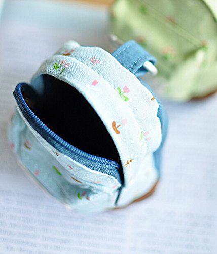 Fleur Sac Mini Femme Fille Bigood Bleu Porte monnaie Décoration Cartable 12x9cm wq0O8H