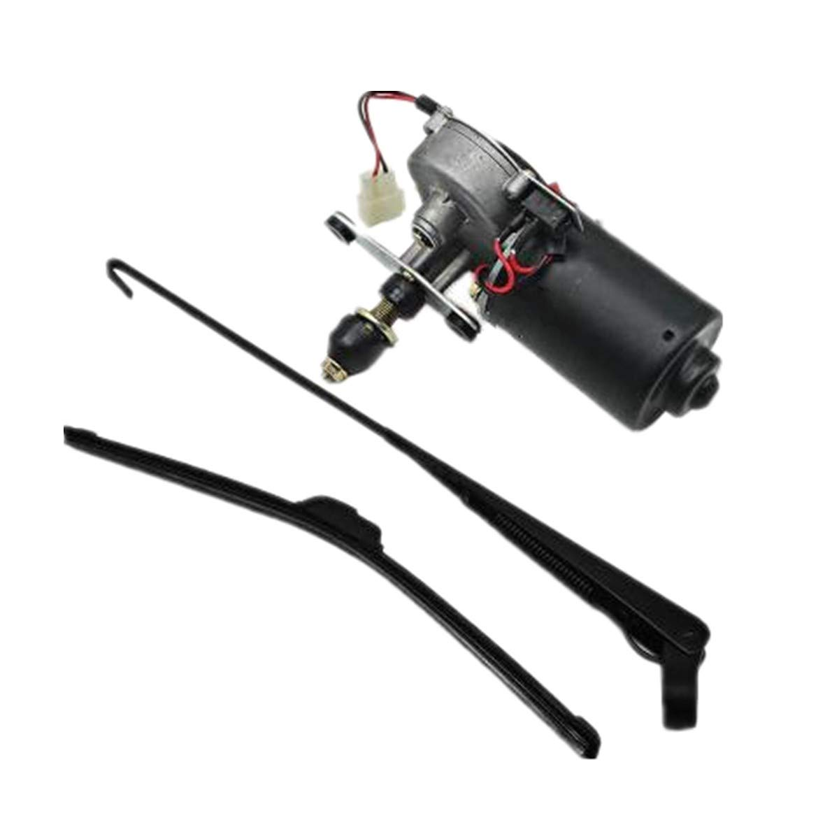 with 12V Motor Hard Coated Polycarbonate Universal Windshield Wiper Arm 90 Degree Wipe Sweep Wiper Blade and Motor 12V CongratsYiCross2019 Electric UTV Windshield Wiper Kit