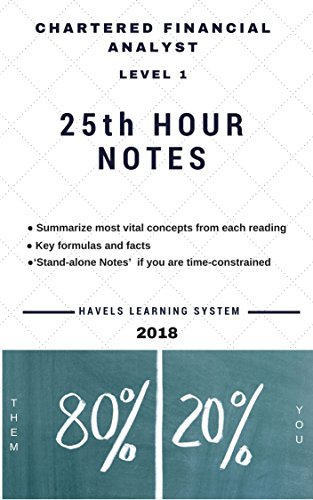 2018 CFA Level 1 – 25th HOUR NOTES: Summarize most vital concepts for each Topic – Covers entire syllabus