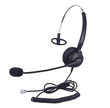 Callez Casque Téléphone Fixe Mono Rj9 Avec Micro Anti Bruit