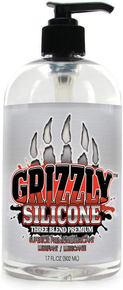 Nature Lovin' Grizzly 3 Blend Premium Silicone Personal Lubricant, 17 oz, Glycerin and Paraben Free
