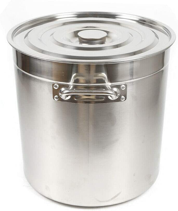 Hauteur 350 mm OUKANING Casserole /à Soupe 35 litres INOX avec Couvercle /Ø 360 mm