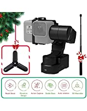 Feiyutech WG2X 3-Axis Wearable Waterproof Gimbal for GoPro Hero 7 Hero 6 Hero 5/GoPro Hero4/Session AEE SJCam and Other Similar-Sized Action Cameras with Extension Rod,Tripod and Box