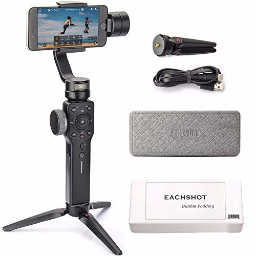 Zhiyun Smooth 4 3-Axis Handheld Gimbal Stabilizer w/Focus Pull & Zoom Capability for Smartphone Like iPhone X 8 Plus 7 6 SE Samsung Galaxy S9+ S9 S8+ S8 S7 S6 Q2 edge new Smooth-Q/III in 2018 Black