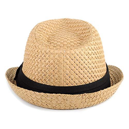 WESTEND Unisex Short Brim Fedora - Hats for Men & Women + Panama Hats & Straw Hats