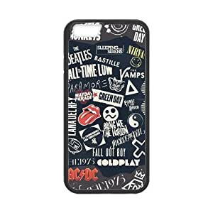 At-Baby Customized I Love Rock Music Iphone 6 Case For Iphone 6 4.7 inch (Laser Technology)