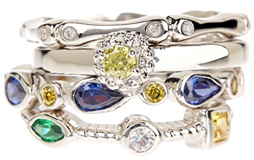 Handmade Wholesale Gemstone Jewelry Stackable Ring Set (Size 7) (Gemstone Ring Stackable)