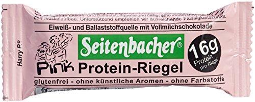 Seitenbacher Pink Protein Riegel mit echten Erdbeeren, 6er Pack (6 x 60 g Beutel)