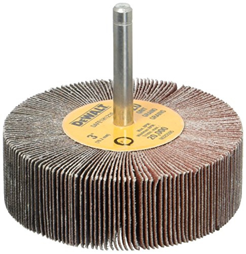 DEWALT DAFE1H1210 3-Inch by 1-Inch by 1/4-Inch HP 120g Flap Wheel by DEWALT