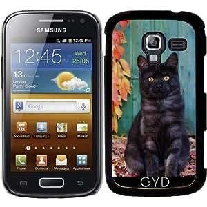 Funda para Samsung Galaxy Ace 2 (GT-I8160) - Lindo Gatito Humo Negro by Katho Menden