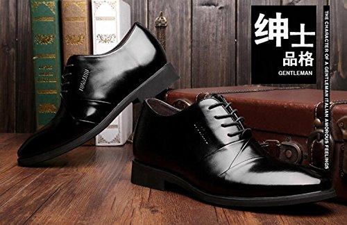 Happyshop (tm) Herenlift Schoen Onzichtbaar 6cm Hoogte Toenemende Schoenen Zakelijke Woestijnschoen Zwart