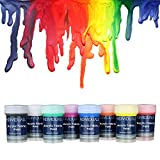 individuall Premium Fabric & Textile Paints Professional Grade Clothing Paint Set - Art and Hobby Paints - Craft Paint Set with 8 x 0.7 fl oz - Vivid Colors - for Beginners, Students, Artists: more info