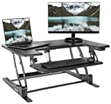 """PC Hardware : VIVO Black Electric Height Adjustable Stand up Desk Converter 