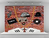 Kate 7x5ft Red Brick Wall Photography Backdrops Radio Hop Pop Party Photo Background